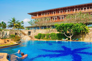 Outdoor pool at Bentota Beach Hotel.