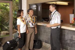 Checking in at Mana Kai Maui.