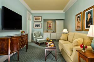 Suite sitting room at The Otesaga Resort Hotel.