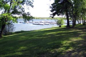 Docks at Big Buffalo Resort.