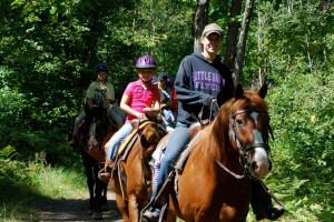 Horseback riding near Quarterdeck Resort.