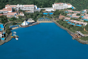 Aerial view of Elounda Bay Palace.