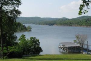 Lake dock at Green Valley Resort.