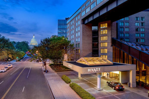 Exterior view of Hyatt Regency Washington on Capitol Hill.