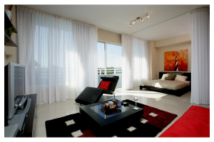 Guest room at CocoStyles Residences.