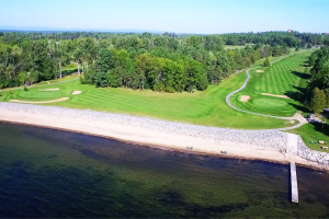 Aerial view of Bluff Point Golf Resort.