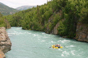 River rafting at Kenai Riverside Lodge.