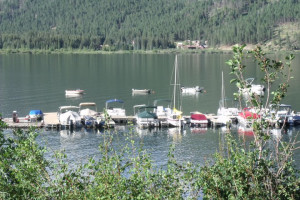 Boats on the Lake at Vallecito Resort