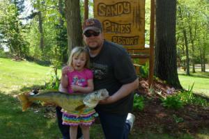 Big catch at Sandy Pines Resort.