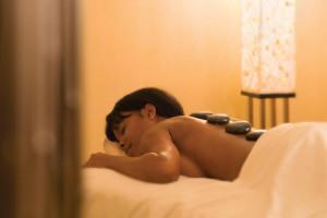 Hot stone massage at The Westin Dawn Beach Resort & Spa.
