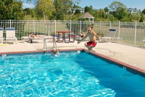 Outdoor pool at Newport Resort.