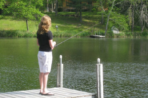 Fishing at Boyd Lodge.