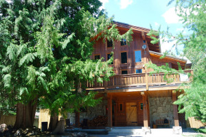 Exterior view of Alpine Lodge Pension.