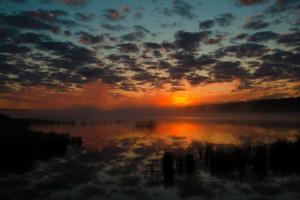 Sunset at Anderson's Starlight Bay Resort.