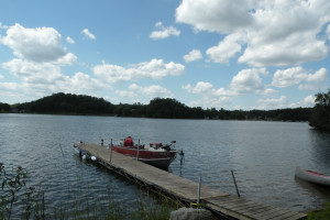 The dock at Sams Island Cabin.