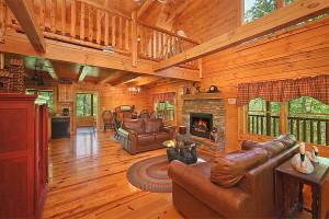 Rental living room at Pioneer Rental Management.