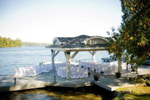 Wedding at Port Cunnington Lodge.