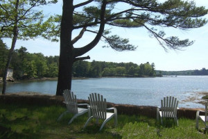 Lake view at Sheepscot Harbour Village & Resort.