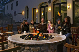 Relax by the fire pit at The Charter at Beaver Creek.