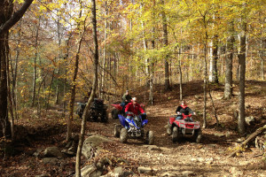 ATV trails at Mulberry Mountain Lodging & Events.