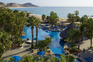 Outdoor pool at Melia Cabo Real.
