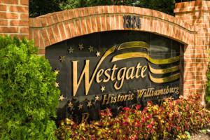 Entrance at Westgate Williamsburg.