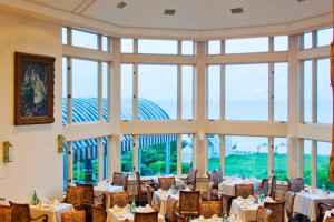 Dining area at Water's Edge Resort.