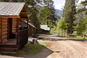 Cabin exterior at Absaroka Mountain Lodge.