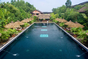 Outdoor pool at Pilgrimage Village, Hue Boutique Resort & Spa.