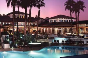 Exterior Night View of Rancho Las Palmas Resort