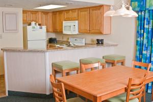Guest kitchen at Long Bay Resort.