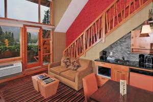 Loft suite interior at The Fox Hotel.
