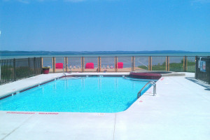 Outdoor pool at The Cherry Tree Inn & Suites.