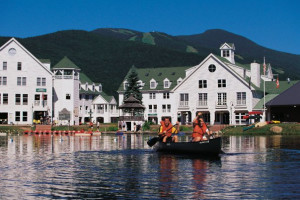 Canoeing at Waterville Valley Resort.