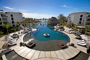 Outdoor pool at Cabo Azul Resort.