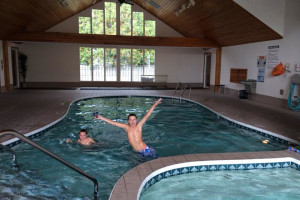 Indoor pool at The Homestead Suites.