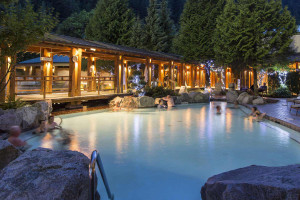 Hot spring at Harrison Hot Springs Resort & Spa.