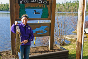 Fishing at Loon Lake Lodge.