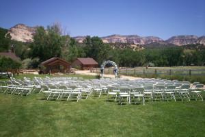 Wedding at Arrowhead Bed & Breakfast.