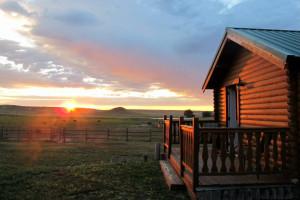 Cabin exterior at Colorado Cattle Company Ranch.