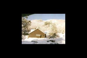 Winter time at Northern Lake George Resort.