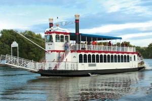 Main Street Lake Cruises Lake Queen near Branson Gazebo Inn.
