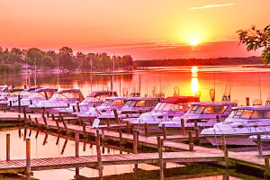 Sunset at Ballard's Resort.