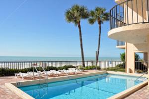 Outdoor pool at Resort Rentals.