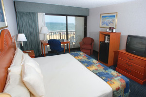 Ocean view guest room at Best Western PLUS Oceanfront Virginia Beach.