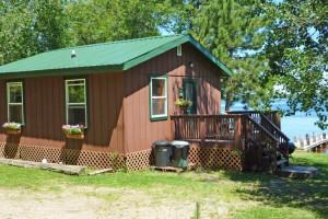 Cabin exterior at Moose Track Adventures Resort.