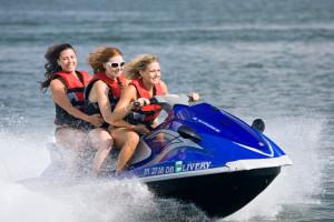 Jet ski at Fourwinds Resort & Marina.