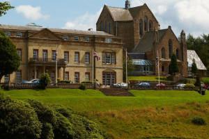 Exterior view of Shrigley Hall Hotel Golf & Country Club.