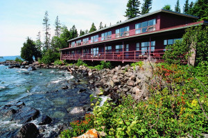 Exterior view of Rock Harbor Lodge & Marina.