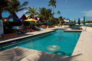 Outdoor pool at Compass Point Beach Resort.
